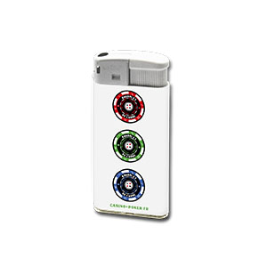 BRIQUET ELECTRONIQUE BLANC XL